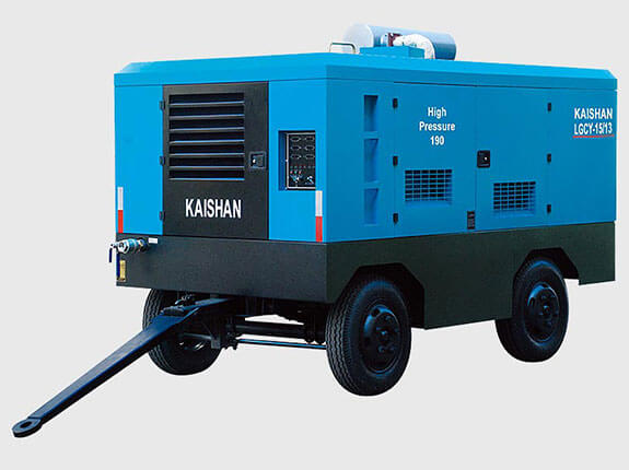 Single-stage compression portable diesel screw air compressor
